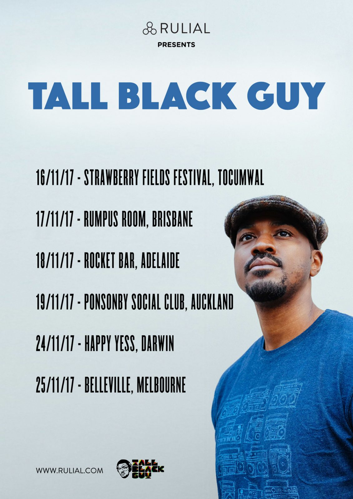 TALL BLACK GUY AUSTRALIA & NEW ZEALAND TOUR