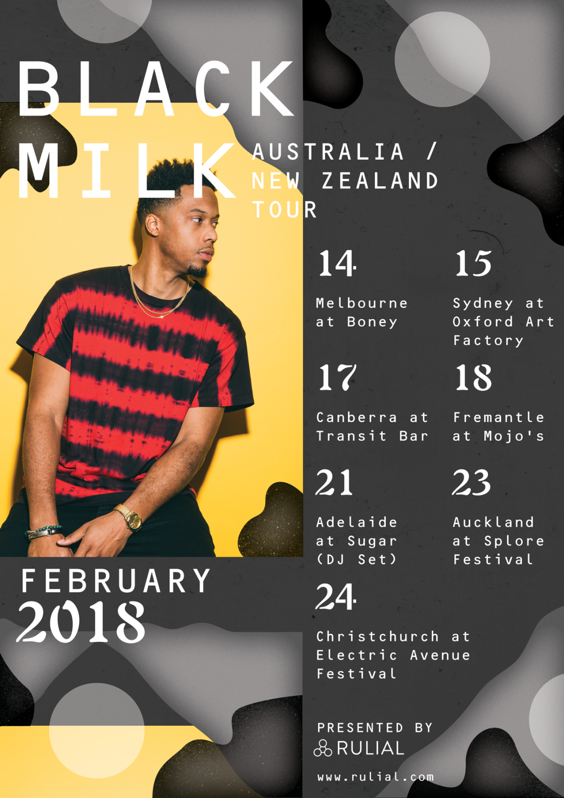BLACK MILK AUSTRALIA & NEW ZEALAND TOUR