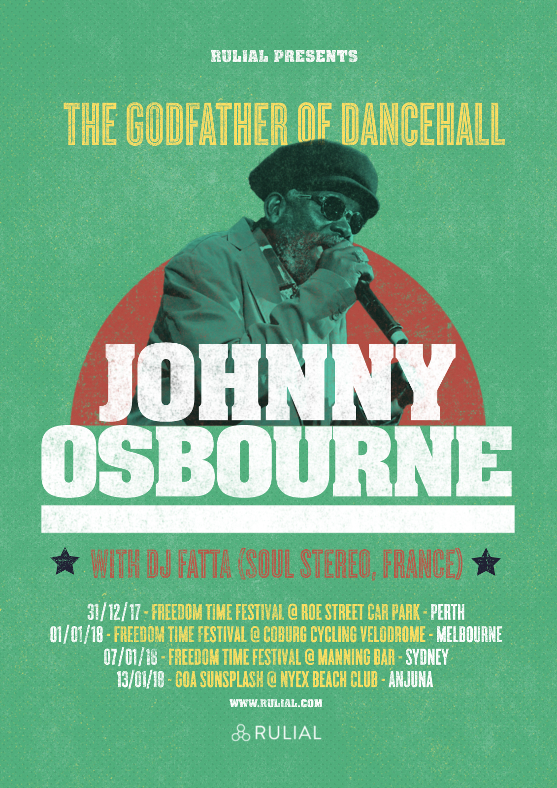 JOHNNY OSBOURNE AUSTRALIA & GOA TOUR