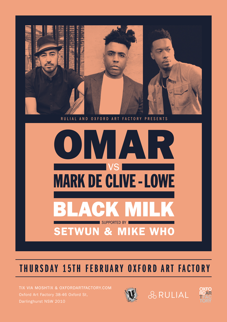 OMAR VS MARK DE CLIVE-LOWE & BLACK MILK SYDNEY SHOW