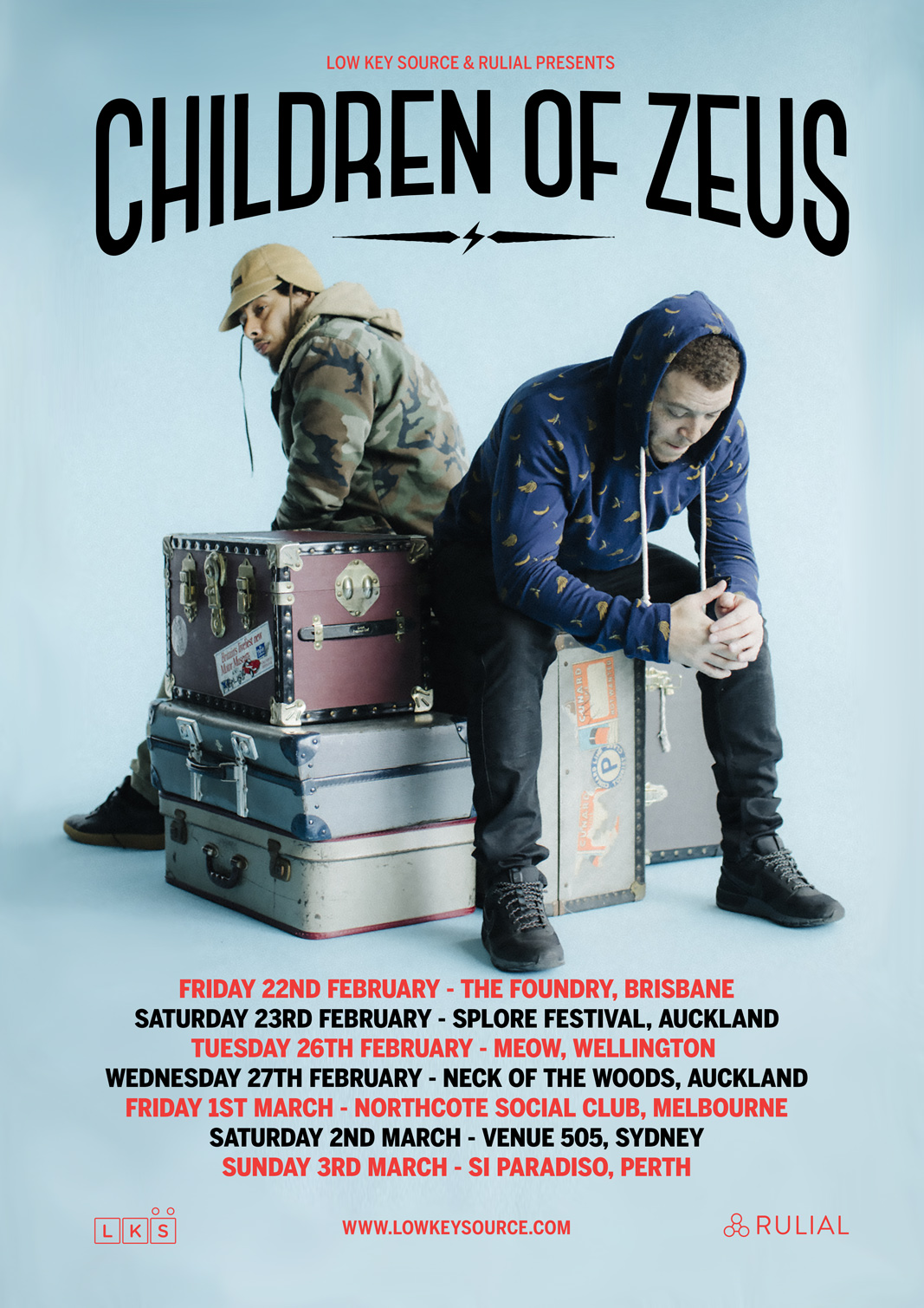 CHILDREN OF ZEUS AUSTRALIA & NEW ZEALAND TOUR