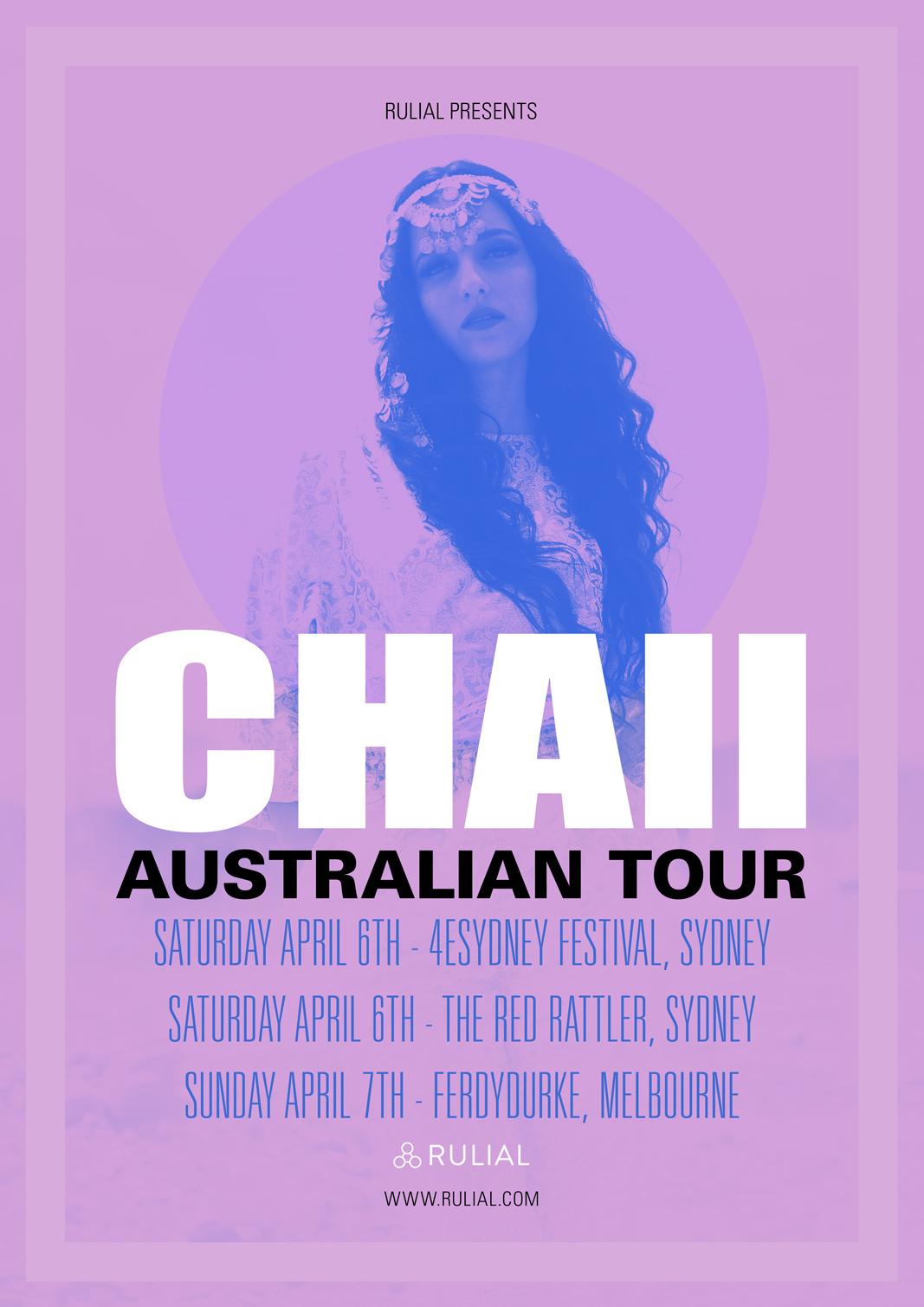 CHAII AUSTRALIAN TOUR