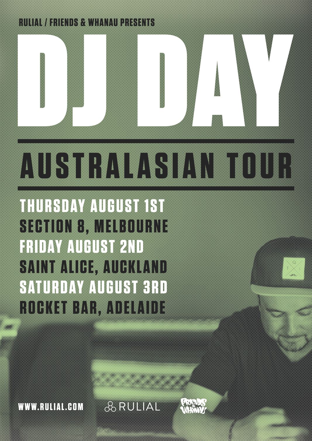 DJ DAY AUSTRALIA & NEW ZEALAND TOUR
